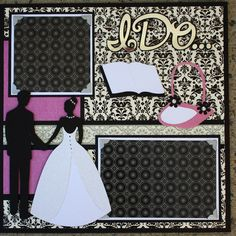 cricut wedding layouts | Wedding Album Series - Tie the Knot 12x12 Double Scrapbook Layout ...