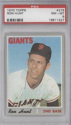 Ron Hunt PSA GRADED 8 Ronald K. Hunt, San Francisco Giants (Baseball Card) 1970 Topps #276 by Topps. $12.00. 1970 Topps #276 - Ron Hunt PSA GRADED 8
