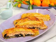 Get this all-star, easy-to-follow Puff Pastry-Wrapped Salmon recipe from Marcela Valladolid