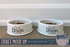 Dog~Cat dishes craft mock up Family Crafts, Dog Bowls, Design Bundles, Mockup, Your Design, Dog Cat, Dishes, Dogs, Model
