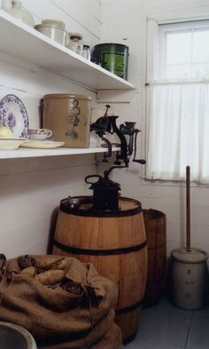 The pantry inside the Surveyor's House where Laura Ingalls Wilder and her family lived.