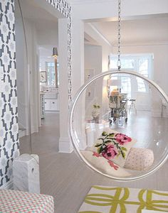 LOVE The Hanging Bubble Chair...droool