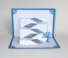 Pop Up Stairs To Success 3D Card Home Decor Origamic by BoldFolds, $20.00