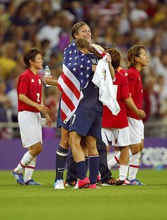 Abby Wambach and Tobin Heath
