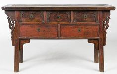 Antique Chinese buffet table