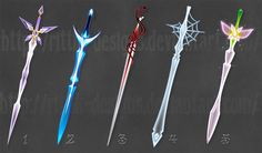 Swords (set 7) by Rittik-Designs on @DeviantArt