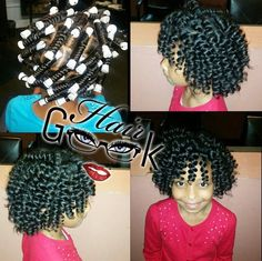 Perm rods on kids hair