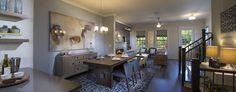 John Wieland Homes and Neighborhoods, Alpharetta townhomes, Overture at Encore, open floorplan, interior