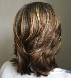 Layered Haircut For Thick Hair Medium Cut, Medium Textured Hair, Hair Medium, Medium Hair Styles, Medium Bob With Layers, Curly Hair Styles, Updo Styles, Long Bob Hairstyles, Layered Hairstyles