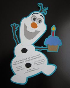 Frozen Olaf Ice Cream Party Invitation by SassyPapier on Etsy