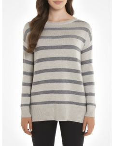 Striped oversized sweater - Grey Sweaters and cardigans Oversized Sweaters, Cozy Fashion, Grey Sweater, Style Me, Cardigans, Pullover, How To Wear, Clothes, Outfits