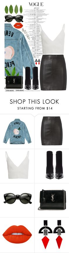 """""""Sleek."""" by ilianavilla ❤ liked on Polyvore featuring Être Cécile, Helmut Lang, Zeynep Arçay, Balenciaga, Yves Saint Laurent, Lime Crime, Toolally and Kendra Scott"""
