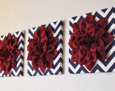 DOS tapices de flores-blanco Dahlia negro 12 x 12 por bedbuggs