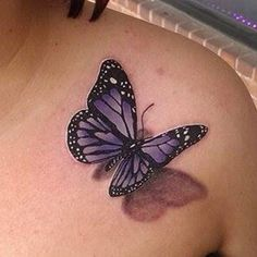 Another Charming Monarch Butterfly Tattoo Design. You can get butterfly tattoos on all parts of your body, and join them with one another tattoo and… Tattoos 3d, Irezumi Tattoos, Mom Tattoos, Cover Up Tattoos, Body Art Tattoos, Sleeve Tattoos, Tatoos, Purple Butterfly Tattoo, Unique Butterfly Tattoos