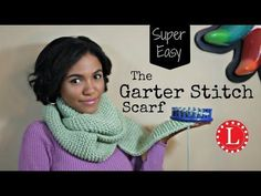 LOOM KNIT Scarf on Round Loom - No Curl Garter Stitch Scarves - Beginner EASY, My Crafts and DIY