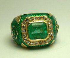 2.75tcw Luxurious Colombian Emerald Diamond by JRColombianEmeralds, $3850.00