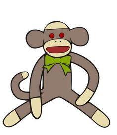 Sock Monkey Printable.