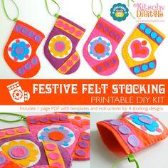 Festive Felt Stocking Printable Sewing Pattern