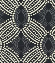 HGTV Home Upholstery Fabric Time Zone Onyx