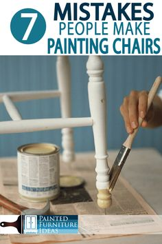7 Mistakes People Make Painting Kitchen Chairs - Painted Furniture Ideas Painting Kitchen Chairs, Painted Kitchen Tables, Kitchen Paint, Painting Cabinets, Painted Tables, Furniture Makeover, Furniture Ideas, Kitchen Chair Makeover, Kitchen Furniture