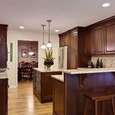 kitchen paint colors with cherry cabinets | remodeling ideas