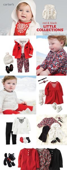 Holidays are here! Our red & black little collections feature easy outfit sets with lots of little details for picture-perfect style.