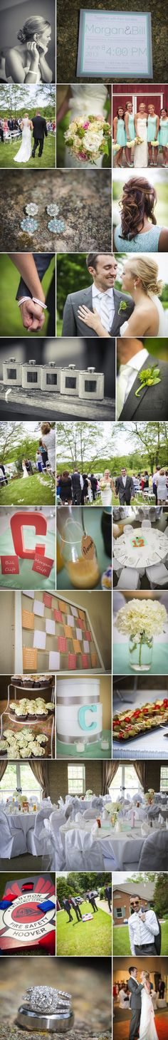 Clift Ramada Galena Wedding | Bride Meets Wedding | Photos by UnPosed Photography | Mint and Coral Wedding Ideas