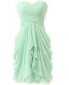 KISSBRIDAL Women's A-line Chiffon Bridesmaid Dress Homecoming Dance Gown KB219 at Amazon Women's Clothing store: