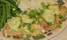 Teriyaki Salmon with Avocado Cream Sauce