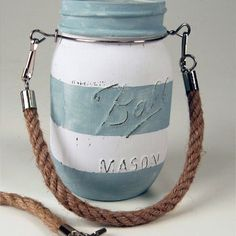 Use these Regular Mouth, easy-to-attach rope handles to create beautiful decorative mason jars.