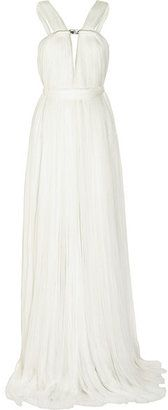 Lanvin  Ruched Silk-blend Tulle Gown