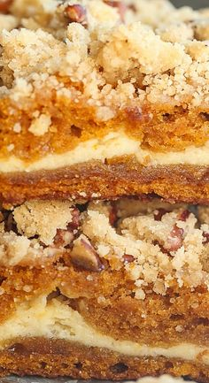 Cream Cheese Filled Pumpkin Bars                                                                                                                                                                                 More