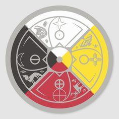 Shop Medicine Wheel Classic Round Sticker created by leapdaze. Native American Patterns, Native American Symbols, Native American Crafts, American Indians, Indian Symbols, Egyptian Symbols, Mayan Symbols, Viking Symbols, Viking Runes