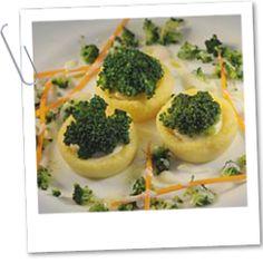 Polentové košíčky plněné brokolicí