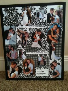 I made this for chad for our 2 year anniversary!