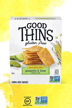 GOOD THINS jalapeño & lime Corn & Rice Snacks are seasoned with the zesty flavors of limes and jalapeños. These delicious snacks are Non-GMO Project verified, gluten free certified by GFCO, and have no artificial flavors or colors. Discover all flavors at Amazon.com