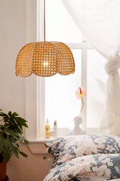 Shop Cayla Cane Pendant Light at Urban Outfitters today. Bamboo Pendant Light, Plug In Pendant Light, Modern Pendant Light, Pendant Lights, Pendant Lighting Bedroom, Home Lighting, Lighting Ideas, Kitchen Lighting, Lighting Design