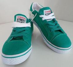 0e6cccc2e89 womens VISION STREET WEAR Canvas Shoes 5 retro lo skate NWOB kelly green   K4  VisionStreetWear  loskate