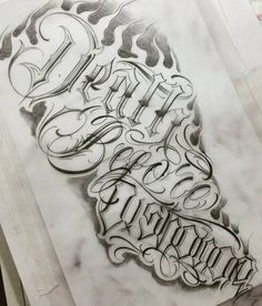 """48 Likes, 2 Comments - MFO tattoo (@arthur.mfo) on Instagram: """"Death before dishonor  #sketch #tattoo #script #lettering #blackletter #mfotattoo #calligraphy…"""""""