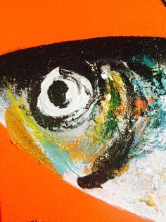 Painting Mackerel In Acrylics