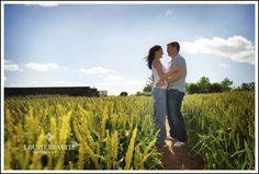 couple in wheat field