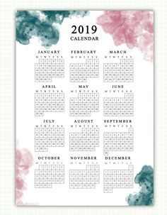 2019 Calendar now available! Inspiring scriptures for each month. Year at a glan… 2019 Calendar now available! Inspiring scriptures for Calendar 2019 Printable, Print Calendar, 2019 Calendar, Printable Planner, Printables, Planner Inserts, Planner Pages, Colegio Ideas, Free To Use Images