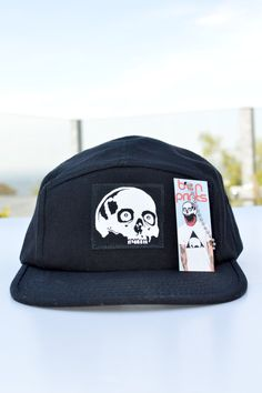 Skull Five Panel Hat By Ben Prints
