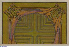 Scottish Art. Drawing and painting, textile design Charles Rennie Mackintosh (Charles Rennie Mackintosh, 1868-1928).