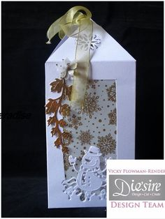 Lantern Box made using Crafter's Companion Die'sire Christmas Edge'able Mr…