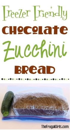 Chocolate Zucchini Bread Recipe! ~ from TheFrugalGirls.com ~ the perfect way to use some of the zucchini you've been growing in your garden, or just bake up an easy and delicious breakfast treat for the family! It freezes great, too! #recipes #thefrugalgirls