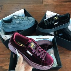 fenty puma creepers are so nice Sock Shoes, Cute Shoes, Me Too Shoes, Shoe Boots, Platform Sneakers, Shoes Sneakers, Sneakers Adidas, Women's Shoes, Sneaker Heels