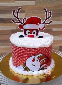Christmas Cake Topper, Christmas Cake Decorations, Christmas Sweets, Christmas Desserts, Christmas Fun, Cake Decorating Videos, Cake Decorating Techniques, Dummy Cake, Piano Cakes