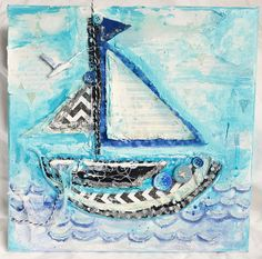 sailboat diy canvas art