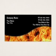 Flaming Maltese Cross Business Card 2 Fire Department Business